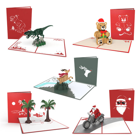 Christmas Characters Pack greeting card -  Lovepop