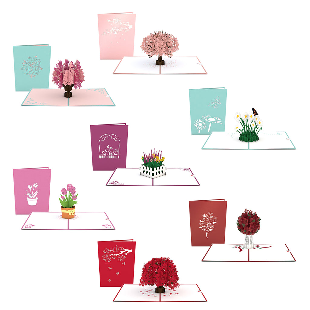 Mother's Day Flowers & Trees 7 Pack pop up card