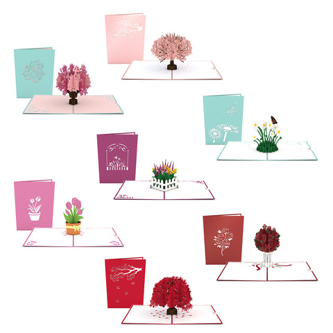 Flowers and Trees 7 Pack greeting card -  Lovepop