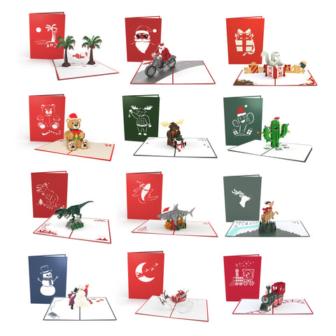 Christmas Characters greeting card -  Lovepop