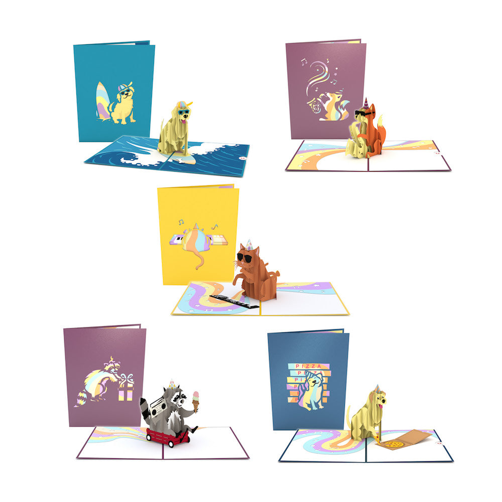 Life Of The Party Pack Lovepop Animal Birthday Pop Up Card