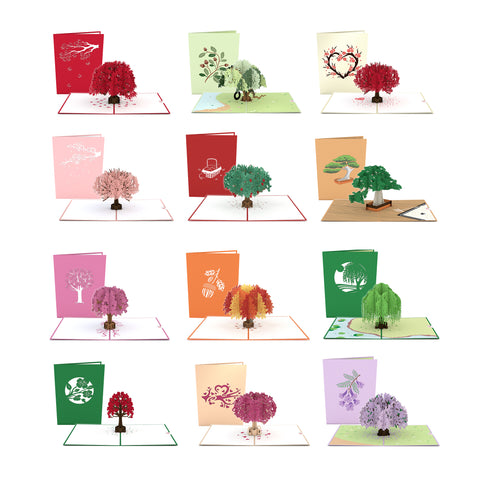 Lovepop Tree 12 Pack greeting card -  Lovepop