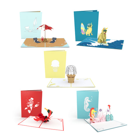 Day at the Beach Pack greeting card -  Lovepop