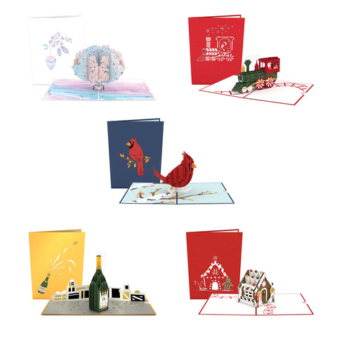 December 5 Pack greeting card -  Lovepop