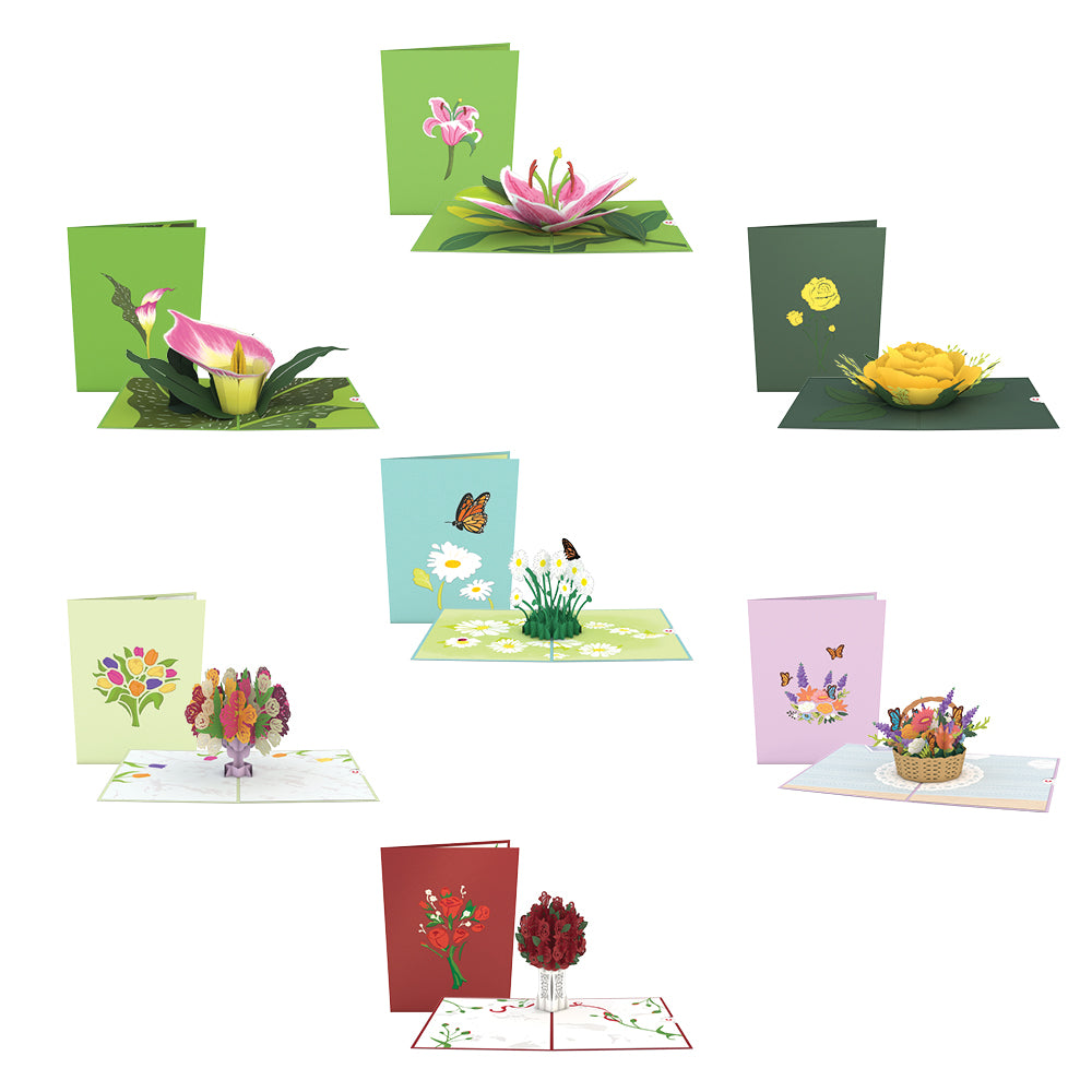 Floral 7 Pack             pop up card