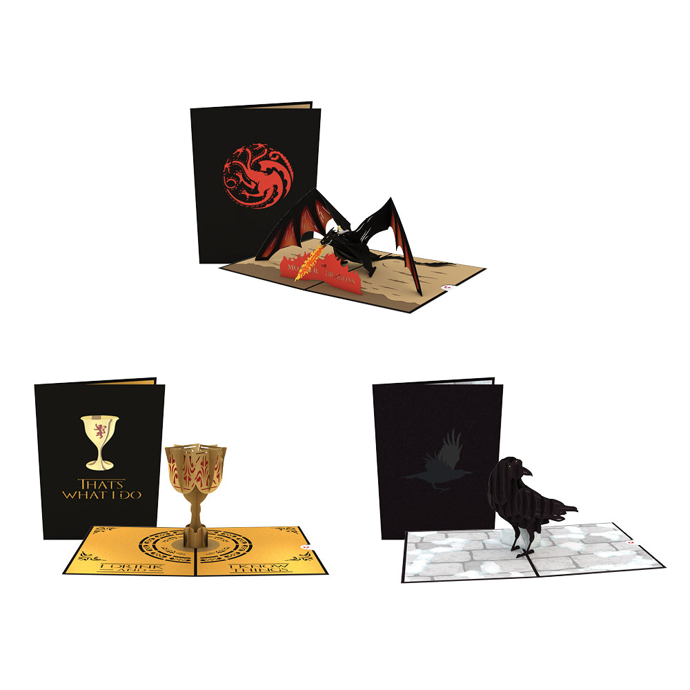 Game of Thrones 3 Pack pop up card