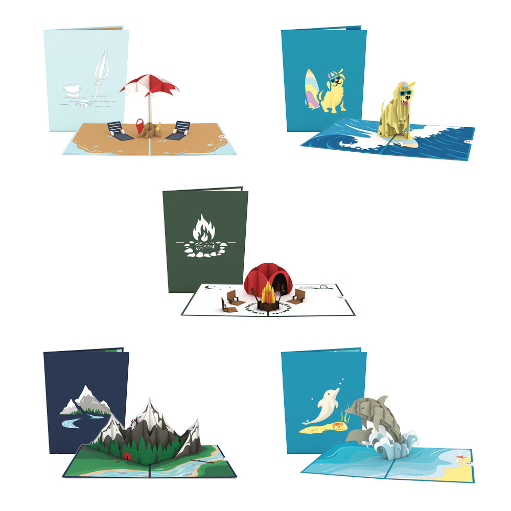 Summer Fun 5 Pack pop up card