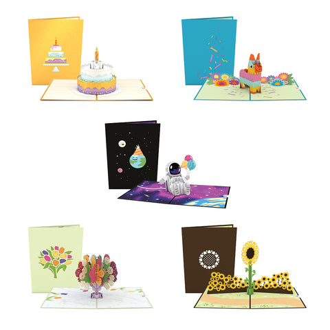 Best of Birthdays 5 Pack greeting card -  Lovepop