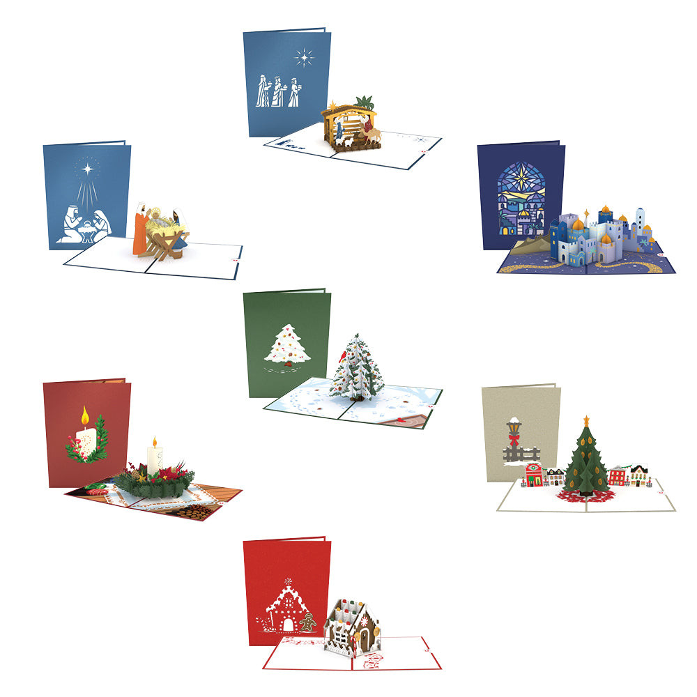 Traditional Christmas 7 Pack pop up card