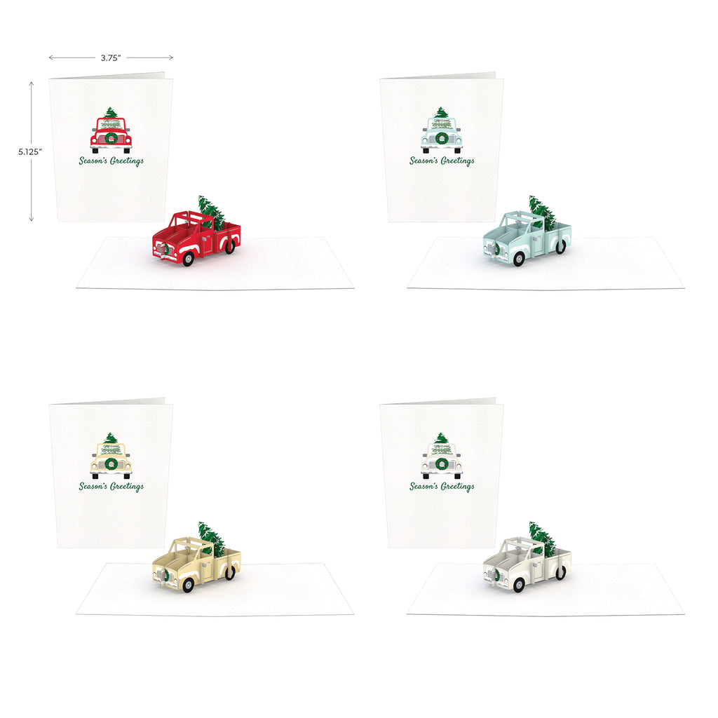 Holiday Truck (Assorted 4 Pack)             pop up card