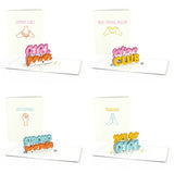 Girl Power Notecards (Assorted 4-Pack)                                   pop up card - thumbnail