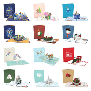 12 Days of Christmas Pack greeting card -  Lovepop