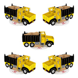 Stickerpop™: Dump Truck (5-Pack)                                   pop up card - thumbnail