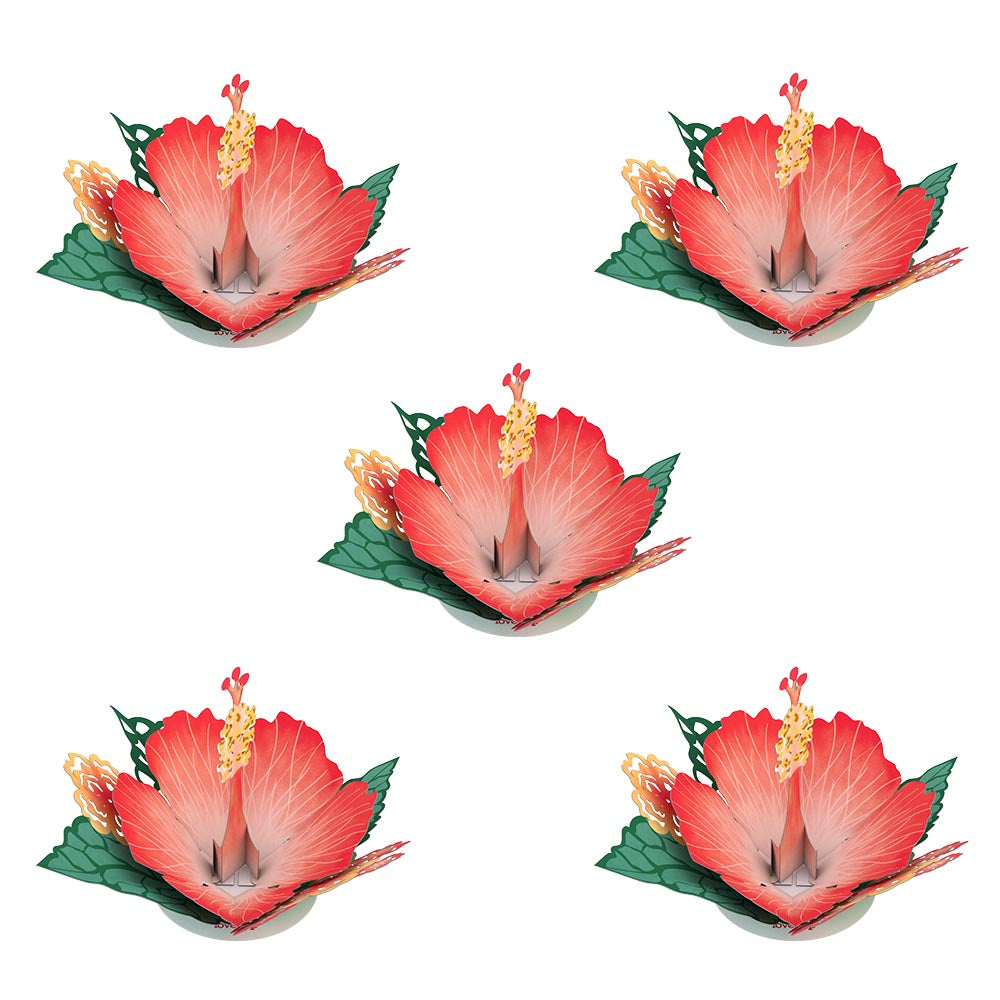 Stickerpop™: Hibiscus Bloom (5 Pack)            pop up card