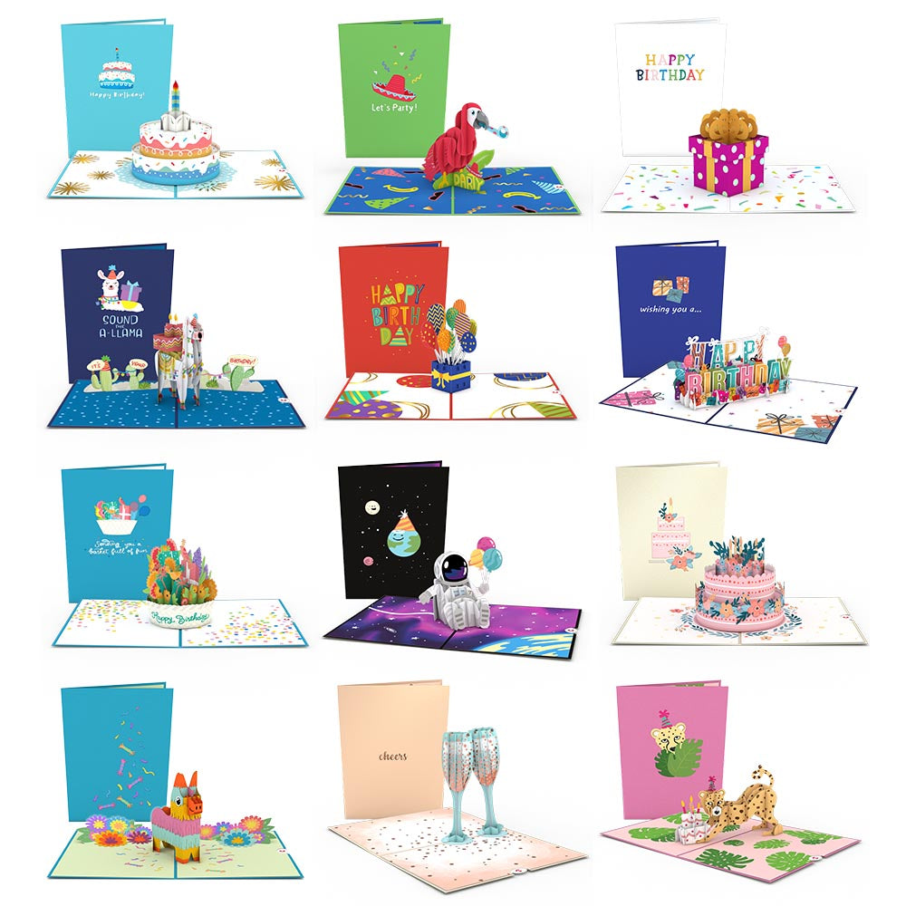 Birthday 12-Pack                                         pop up card