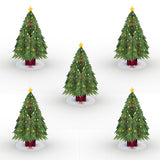 Stickerpop™: Festive Christmas Tree (5-Pack)                                   pop up card - thumbnail