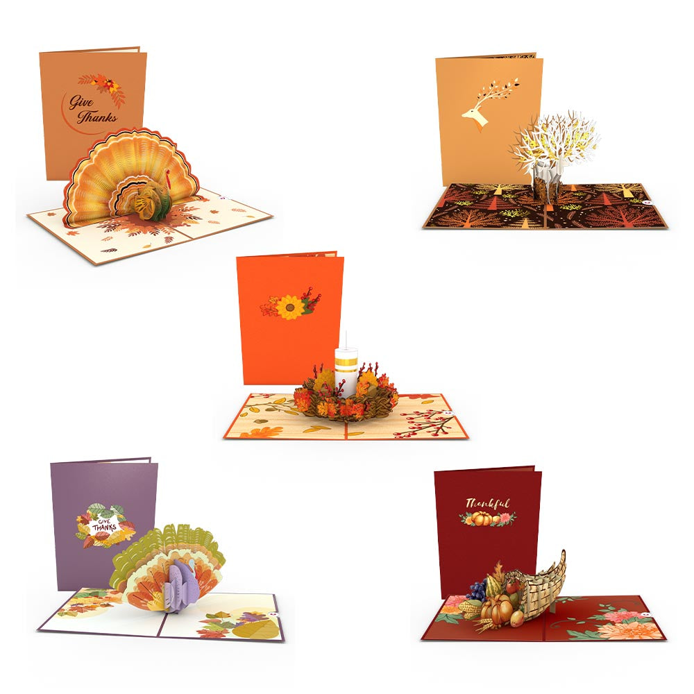 Thanksgiving 5-Pack             pop up card