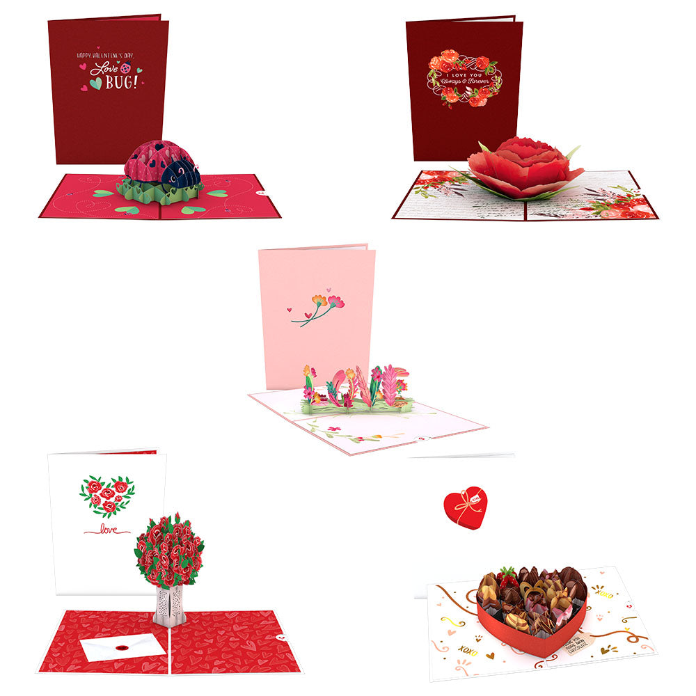 Valentine's Day Favorites 5-Pack             pop up card