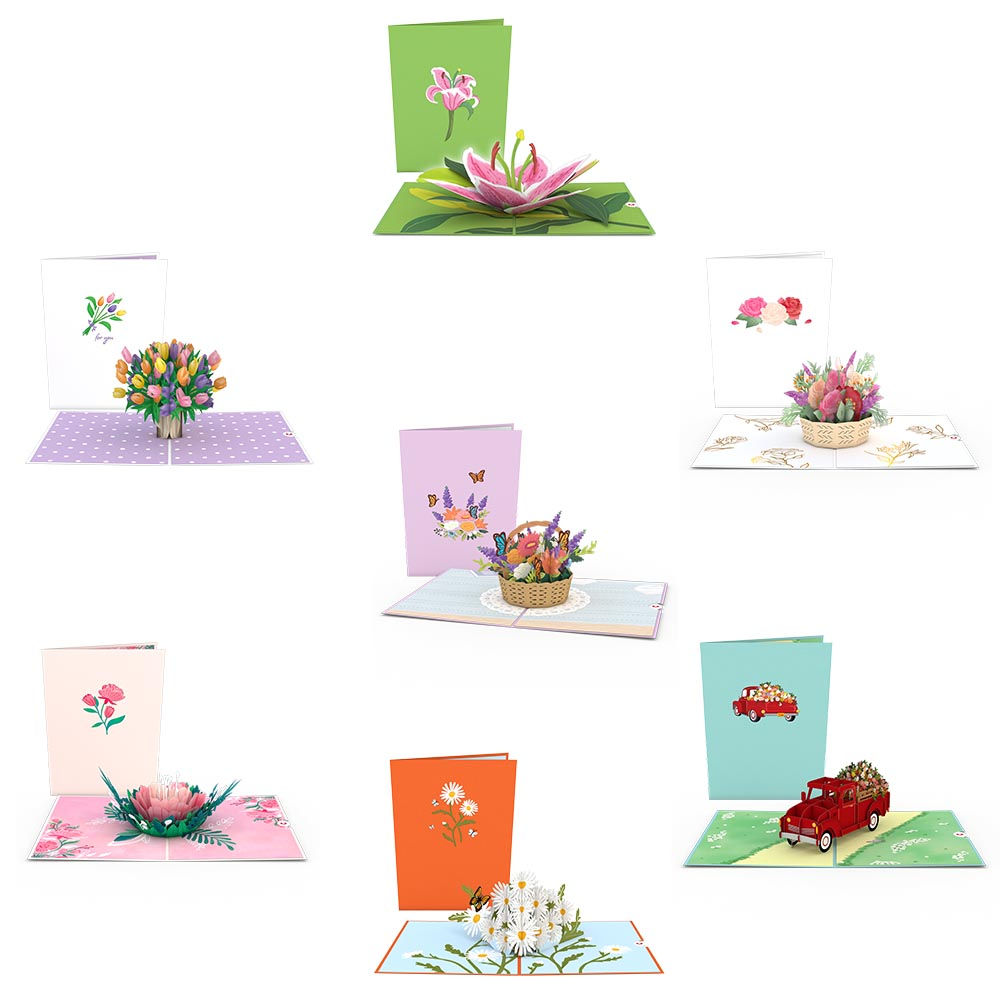 Floral 7-Pack             pop up card