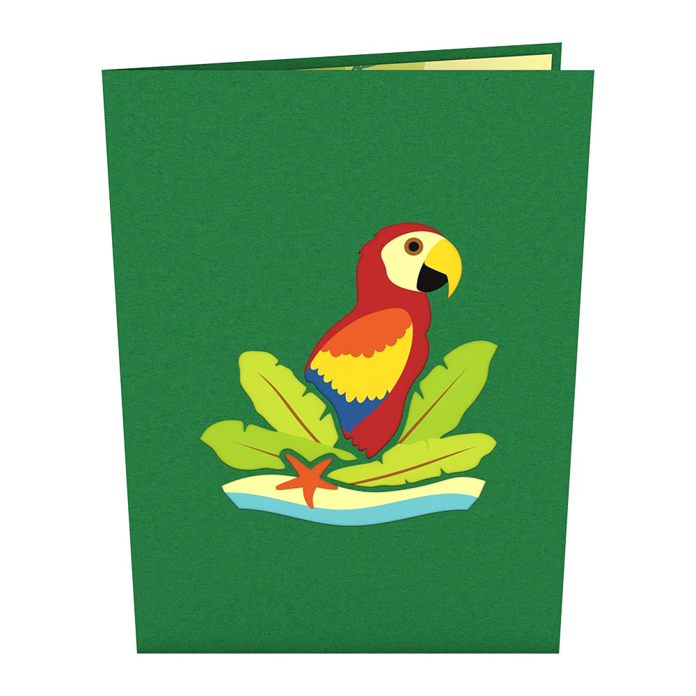 Parrot birthday pop up card