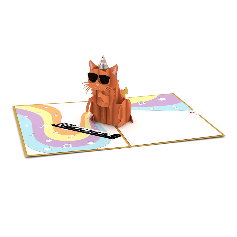 Party Cat birthday pop up card