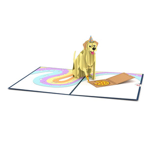 Party Dog Pop up Card greeting card -  Lovepop