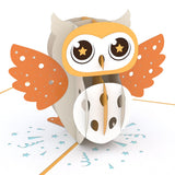 Party Owl birthday pop up card - thumbnail