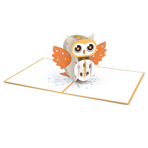 Party Owl Pop up Card greeting card -  Lovepop