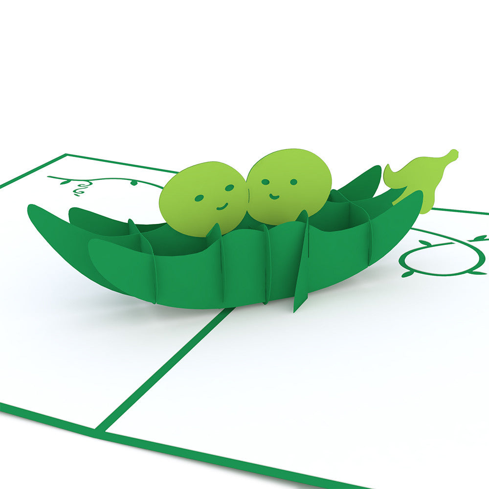 Peas in a Pod pop up card