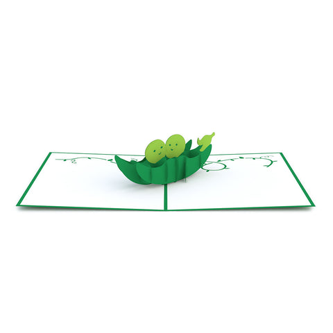 Peas in a Pod Pop up Card greeting card -  Lovepop