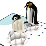 Penguin Family                                   pop up card - thumbnail