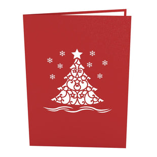 Photo Christmas Tree Pop Up Christmas Card