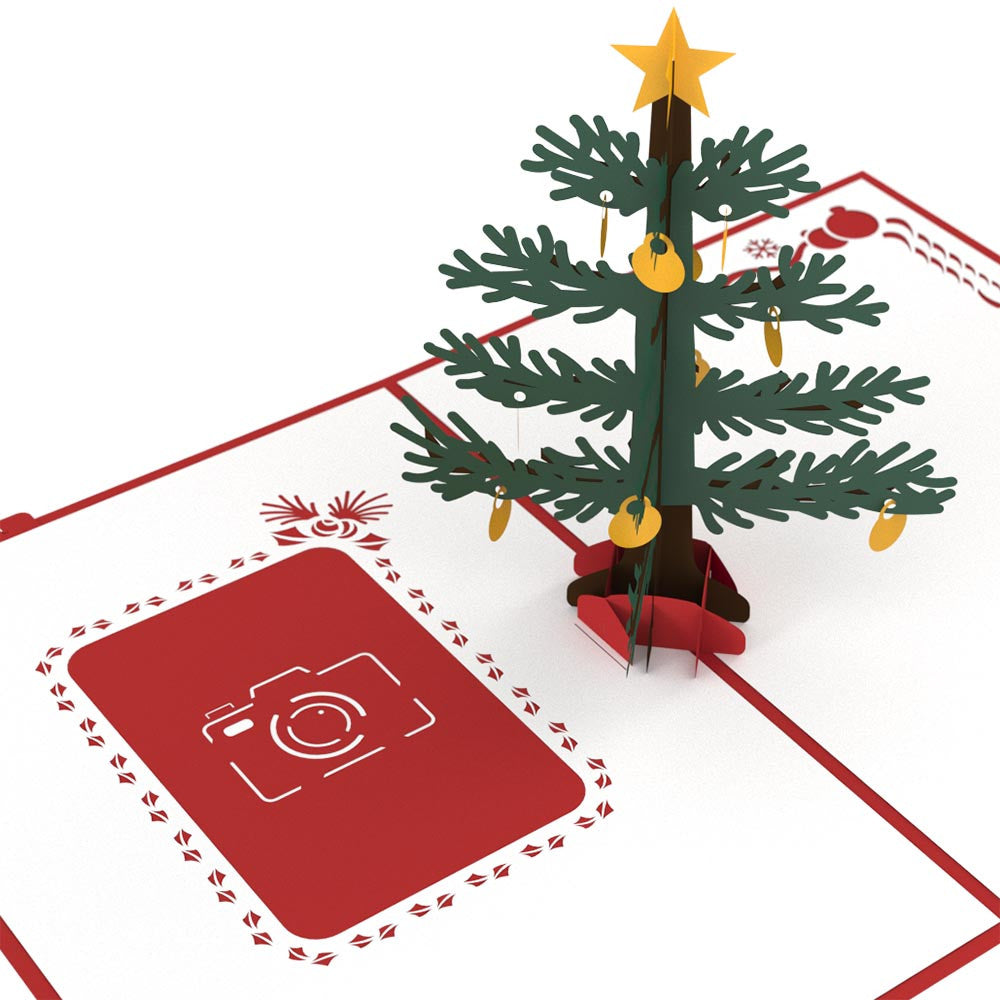 Photo Christmas Tree pop up card