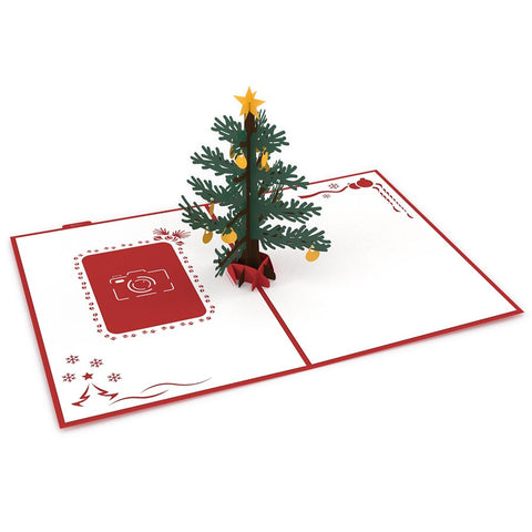 Photo Christmas Tree Pop Up Christmas Card greeting card -  Lovepop