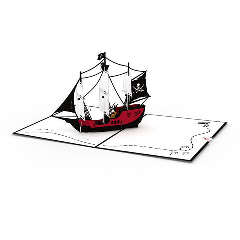 Pirate Ship greeting card -  Lovepop