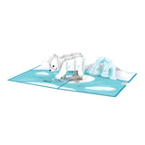 Polar Bear birthday pop up card - thumbnail