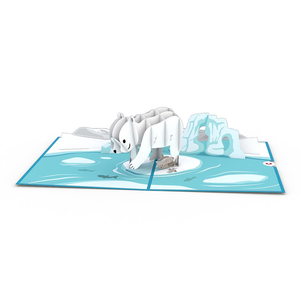 Polar Bear birthday pop up card