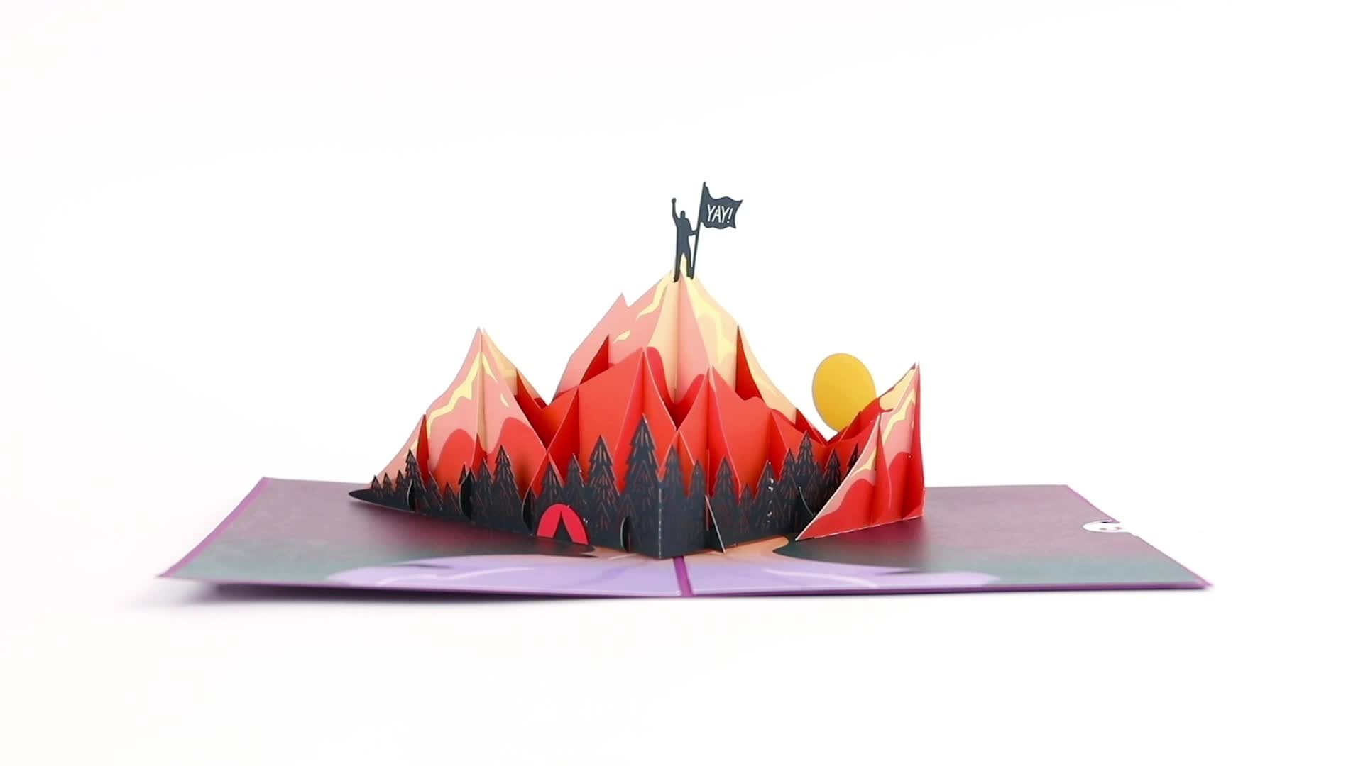 You Did It Mountains Pop-Up Card