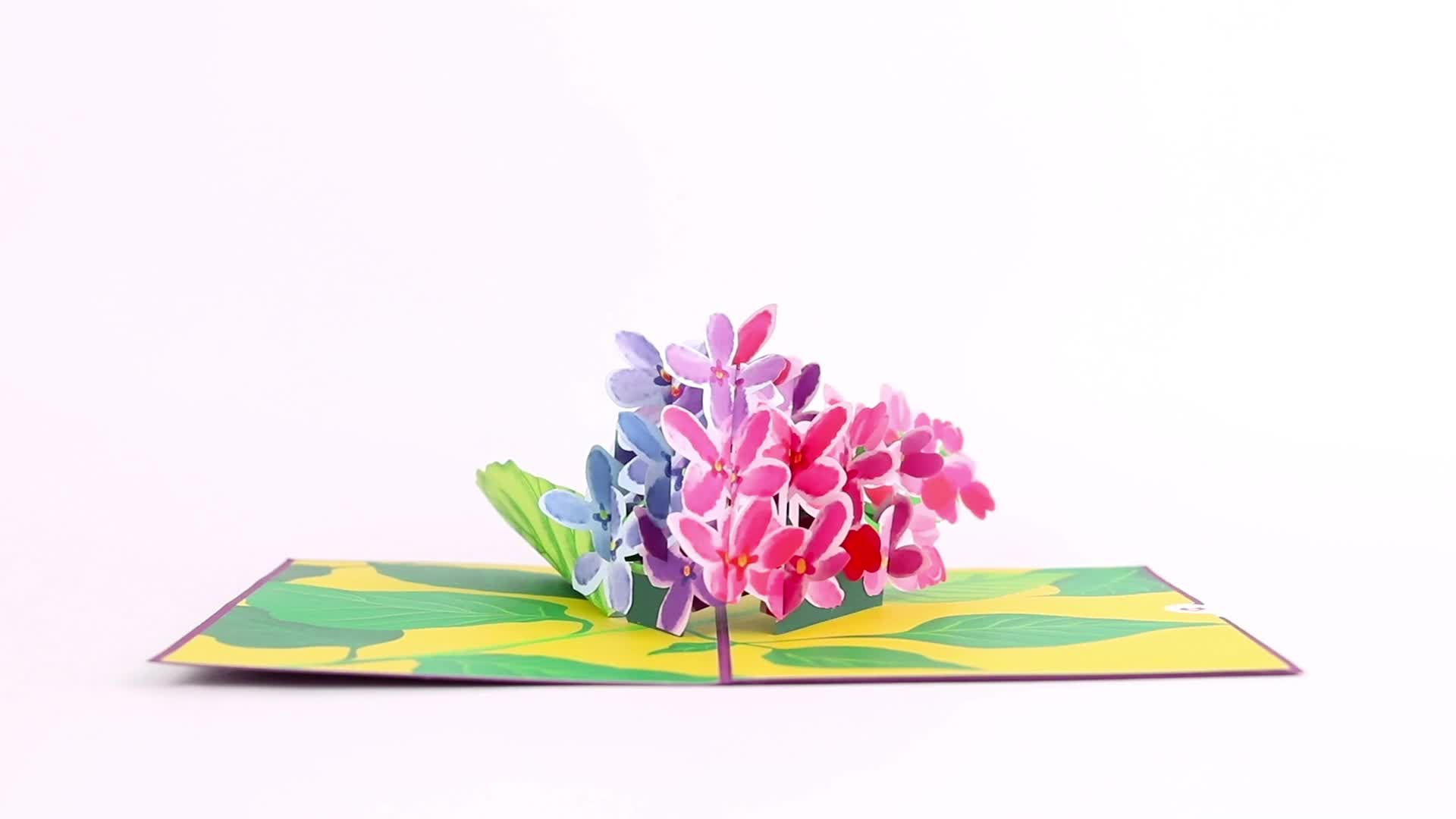 Soon We Will Be Together Lilacs 3D card