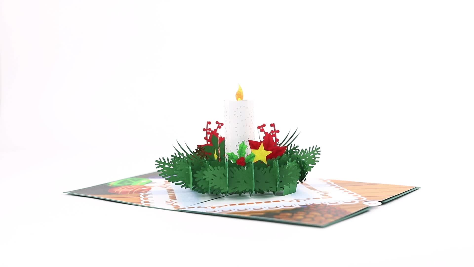 Christmas Candle Pop-Up Card