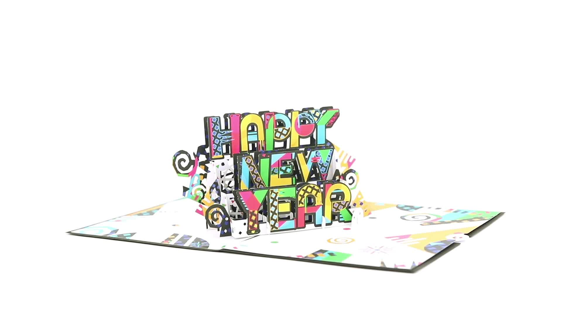 Happy New Year Pop-Up Card