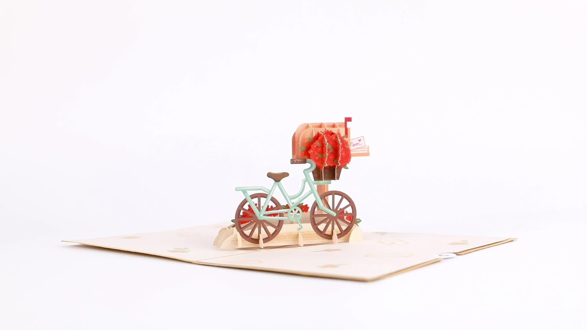 Mother's Day Bicycle 3D card