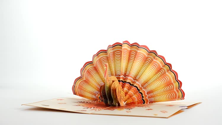 Give Thanks Turkey Pop-Up Card