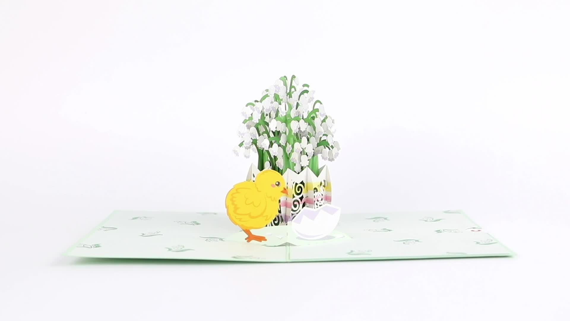 Easter Lily of the Valley 3D card