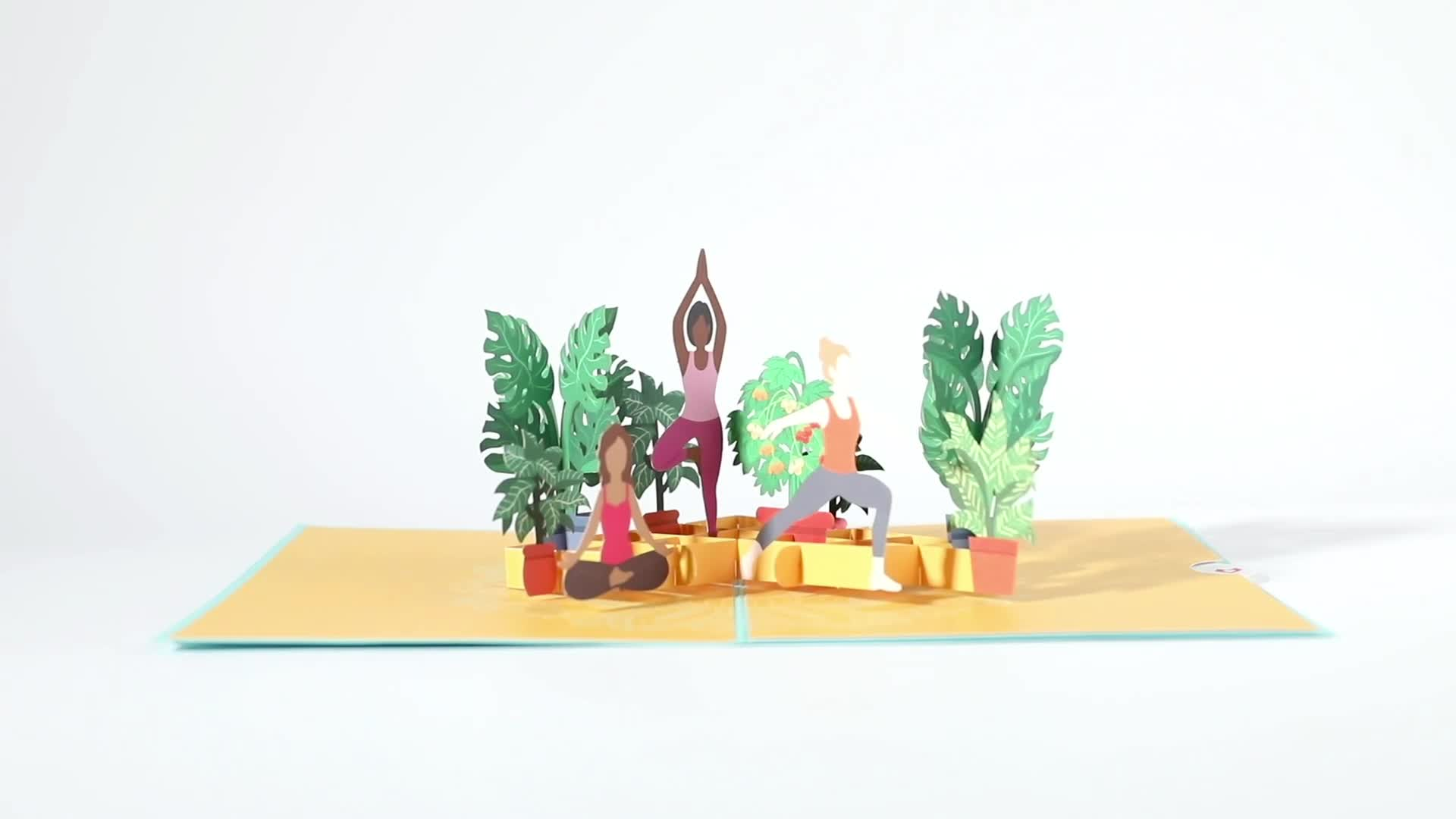 Yoga Poses Pop-Up Card