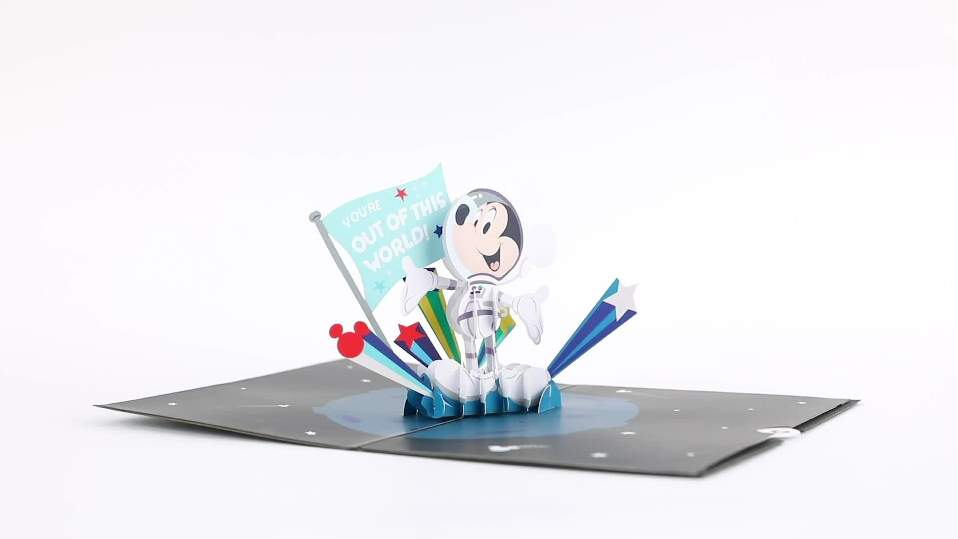 Disney's Mickey Mouse: Out of This World Dad 3D card