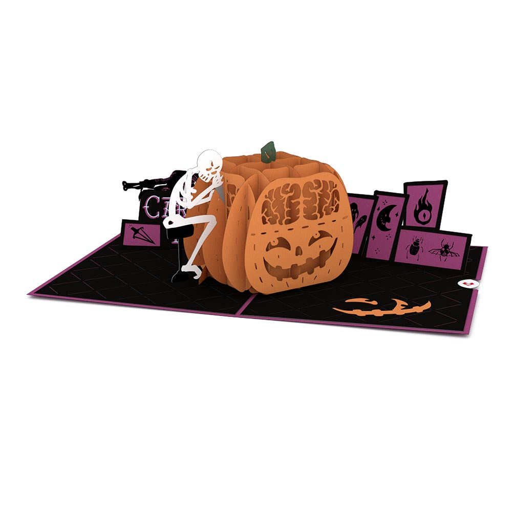 Pumpkin Carving Madness pop up card
