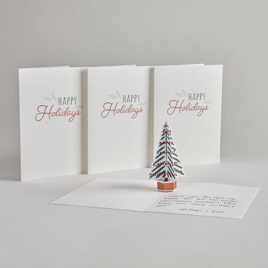 Holiday Tree Notecards (Assorted 4-Pack)             pop up card