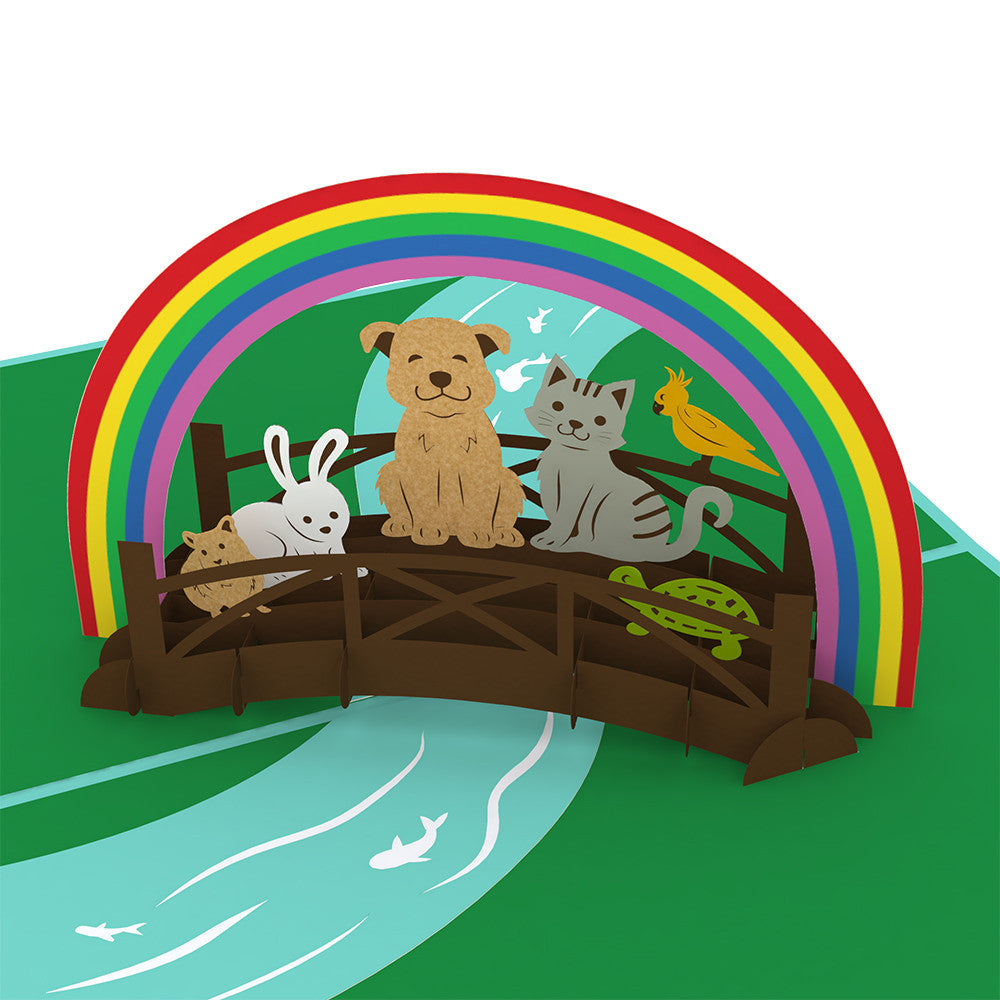 Rainbow Bridge pop up card