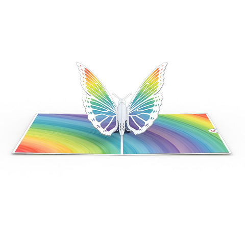 Rainbow Butterfly greeting card -  Lovepop